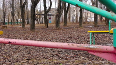 the rotation of the camera rotating on a seesaw - stock footage