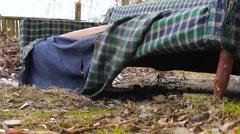 overnight homeless - stock footage