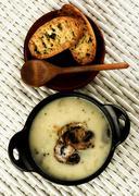 Mushrooms Cream Soup Stock Photos