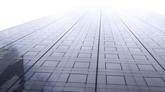 Skyscraper with modern facade. building. Concepts economics, finance, business Stock Footage