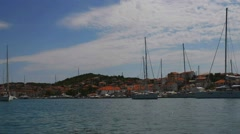 Trogir in Split-Dalmatia County, Croatia Stock Footage