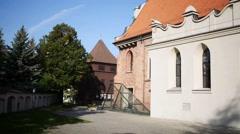 Church of St. Adalbert or St. Wojciech in Poznan Stock Footage