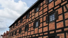 Old Port Granary in Bydgoszcz, Poland Stock Footage