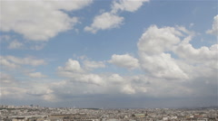 Paris city view timelapse Stock Footage