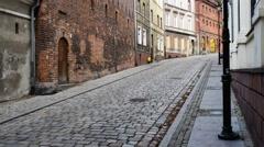 Old buildings in city of Grudziadz, Poland Stock Footage