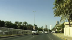 On Board Camera On A Car in Manama City. Bahrain 04 Stock Footage