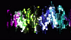 house music equalizer of colored lines - stock footage