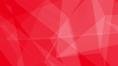 Glass Crystals Polygons Triangles overlapping Seamless Motion Background Red - stock footage