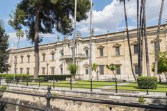 Old royal tobacco factory, Seville, now Seville University Stock Photos
