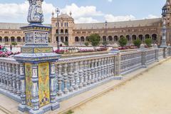 Spain Square, Seville, Spain (Plaza de Espana, Sevilla) Stock Photos