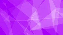 Glass Crystals Polygons Triangles overlapping Seamless Motion Background Purple - stock footage