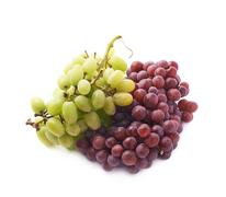 Branches of the dark and white grapes isolated Stock Photos