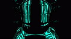 iron man mock costume in electric mode - stock footage