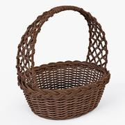 Wicker Basket 04 Brown Color - 3D model
