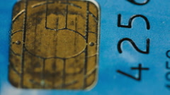 Short Pan Over A Credit Card Stock Footage