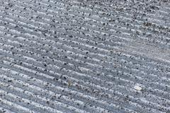 Roof particular asbestos - stock photo