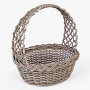 Wicker Basket 04 Gray Color - 3D model