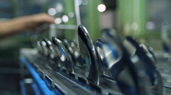 Cutlery manufacturing - Portugal. - stock footage