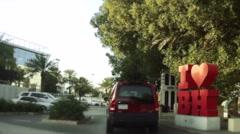 On Board Camera On A Car in Adliya Neighborhood. Bahrain 02 Stock Footage
