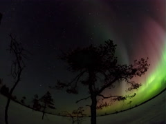 Bright, colorful, radiant northern lights Stock Footage