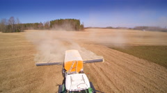 The process of agriliming in the field Stock Footage