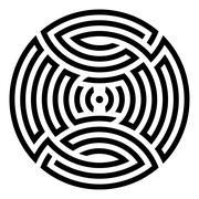 Geometric round ornament Stock Illustration