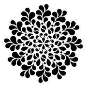 Geometric round ornament - stock illustration