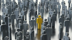 Man differs from the crowd Stock Footage