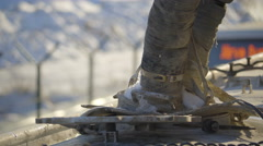Closer look of the pipe on the truck Stock Footage