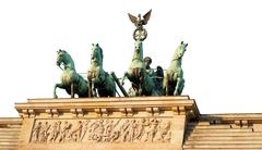 Top of Brandenburg Gate cut out - stock photo