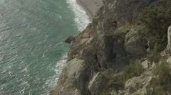 View from the high mountain of Balaklava to the bay Stock Footage