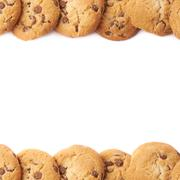Borders made of cookies isolated Stock Photos