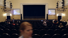 The audience filled the concert hall - stock footage