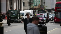 Traffic on Piccadilly Circus, London, England - stock footage