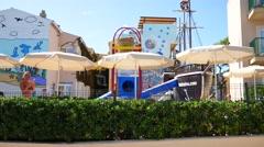 Cala Mesquida Mallorca Majorca: Playground for kids view Stock Footage