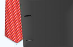 Vector jacket and tie, close-up Stock Illustration