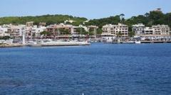 Cala Ratjada Mallorca Majorca: Harbor wide shot Stock Footage