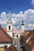 Zagreb Church of St Mark Stock Photos