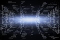 Hi-tech technological background - stock illustration