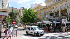 El Arenal Mallorca Majorca: Streets and hotels Stock Footage