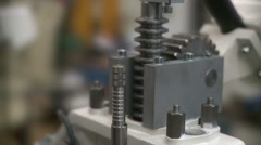 Metallurgical industrial factory: testing machines. Stock Footage