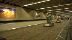 Walkway between terminals at Atlanta Airport Stock Footage