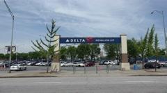 Delta Parking Lot at Turner Field Atlanta - stock footage