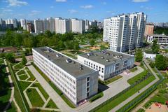General view of  city of Zelenograd, Russia - stock photo