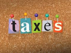 Taxes Concept Pinned Letters Illustration Piirros