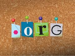 Dot Org Concept Pinned Letters Illustration Stock Illustration