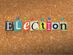 Election Concept Pinned Letters Illustration - stock illustration