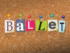 Ballet Concept Pinned Letters Illustration - stock illustration