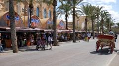 El Arenal Mallorca Majorca: Playa de Palma Mega Park Megapark Stock Footage