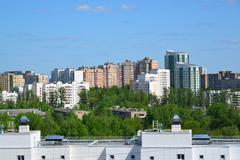 View of 8 districts of Zelenograd, Russia Stock Photos